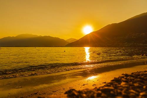 sundown sunset sonnenuntergang küste lago lake see schweiz