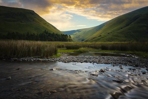 green tallareservoir tallalinfoots tallalinnfoots tallawater sunset sunrise uk scotland unitedkingdom landscape scottishborders longexposure le nd