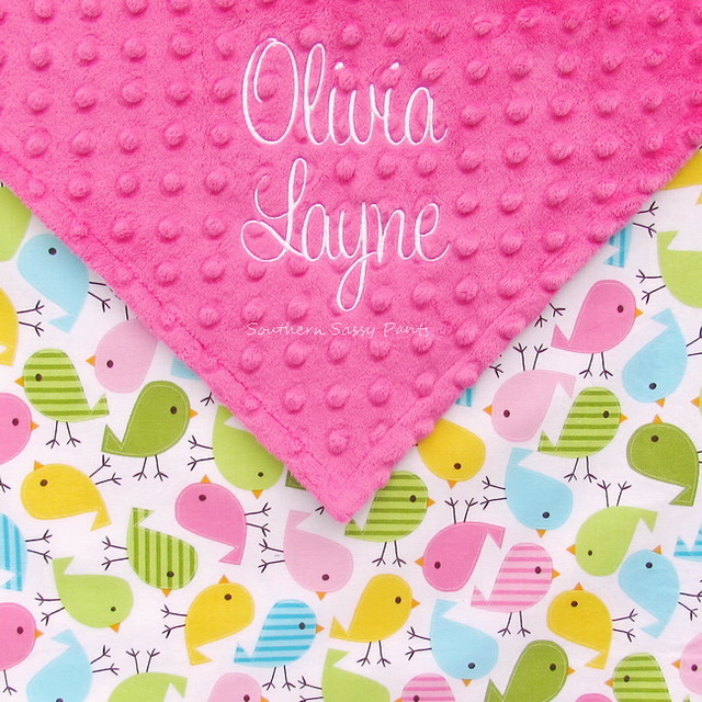Embroidered Baby Girl Blanket