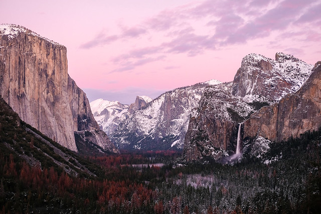 Yosemite moments after sunset