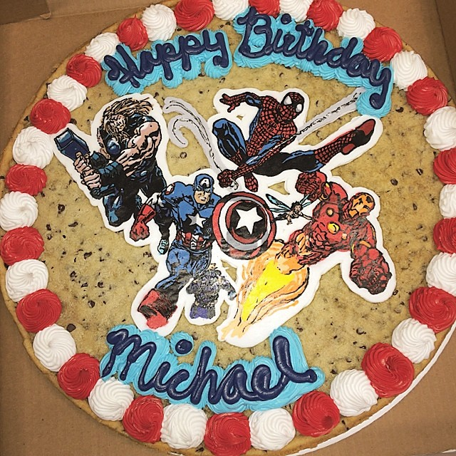 Astonishing A Custom Cookie Cake Design Made By Hand Happy Birthday M Flickr Personalised Birthday Cards Veneteletsinfo