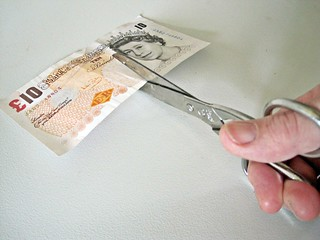 £10 note being Cut in Half | by Images_of_Money