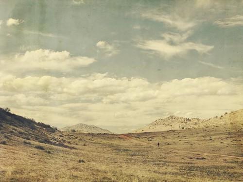 sky clouds canon vintage landscape colorado biker aged textured hogback kencaryl trailrider dirtbiker t1i applesandsisters