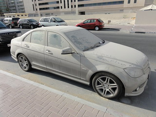 A very dusty car in Dubai | by morshus