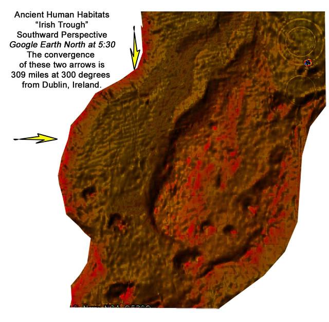 Irish Trough Human Habitats, 100,000 years ago?