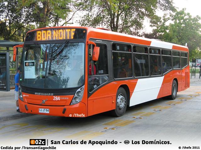 C02c, San Carlos de Apoquindo - Metro Los Domínicos.
