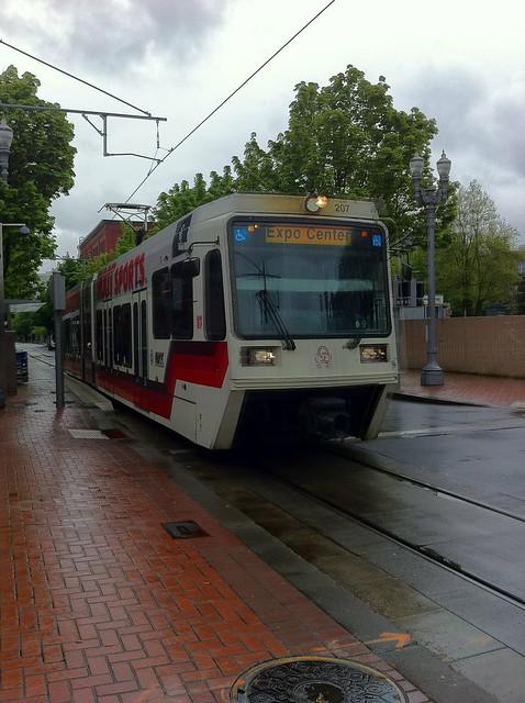 Expo Center MAX train