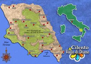 cilento map - mappa cilento | HOTEL la PLAYA | Flickr on