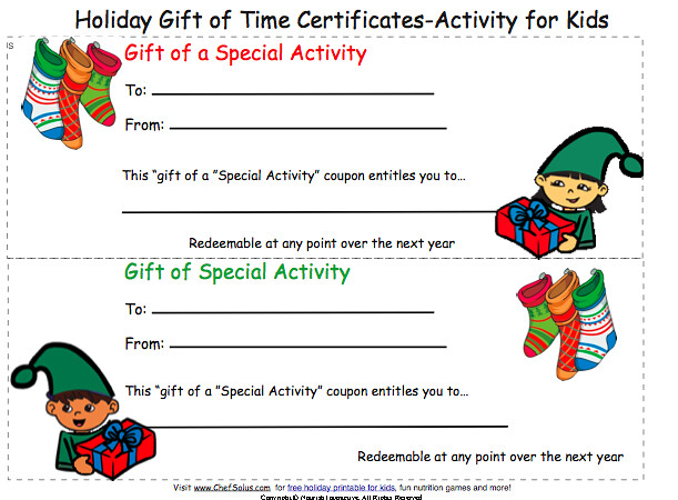 Print Gift Coupon Certificate Christmas Card For Kids To Flickr