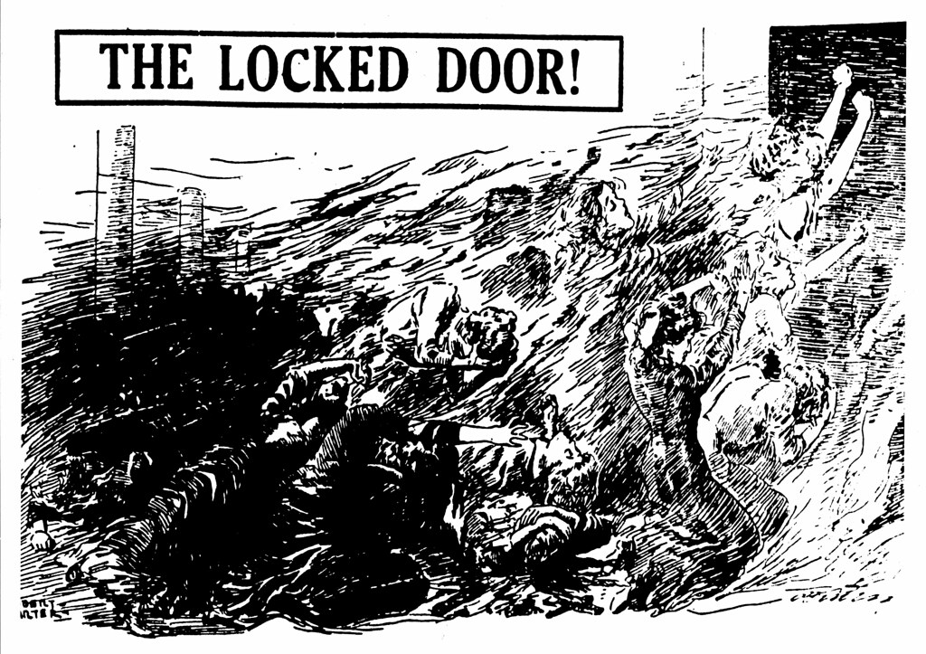 Drawing The Locked Door Refers To The Triangle Fire And Flickr