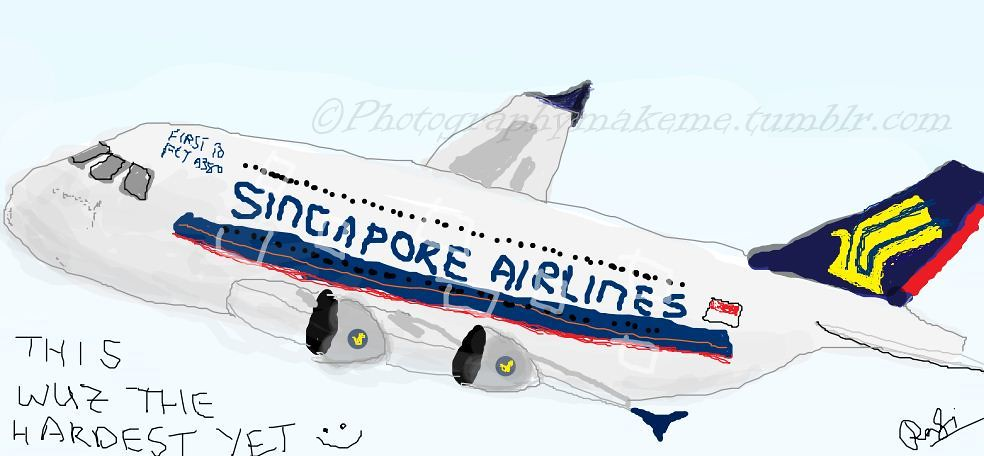 Singapore Airlines A 380 Drawing A Drawing Given To Me By Flickr
