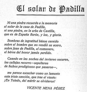 Soneto de Vicente Mena Pérez lamentando la ausencia de un monumento a Juan de Padilla en Toledo. Revista Toledo, marzo de 1930 | by eduardoasb