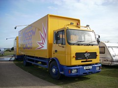 quicksilver coaches posted a photo:	H3 PLY1991 Foden 2200Moscow State CircusCampbell Park, Milton Keynes, 14 March 2008New to Bligh Boards, SalisburyThe Moscow State Circus fleet included a few 2000-series Fodens, a rare type in showland use. They were mostly used as bunk wagons towing similarly-equipped drawbar trailers as illustrated by H3 PLY, which was new to a ply lining company and retained its distinctive registration after sale. By 2012 it was with Gerry Cottle's Circus and two years later with Circus Berlin, and is now on SORN.