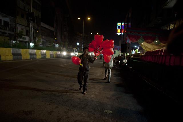 New Delhi at night