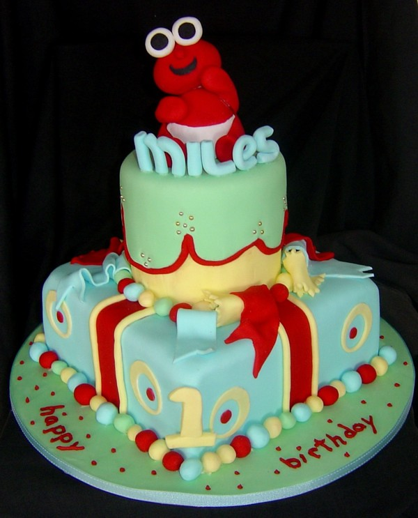 Awe Inspiring Baby Elmo 1St Birthday Cake Kim Flickr Personalised Birthday Cards Epsylily Jamesorg