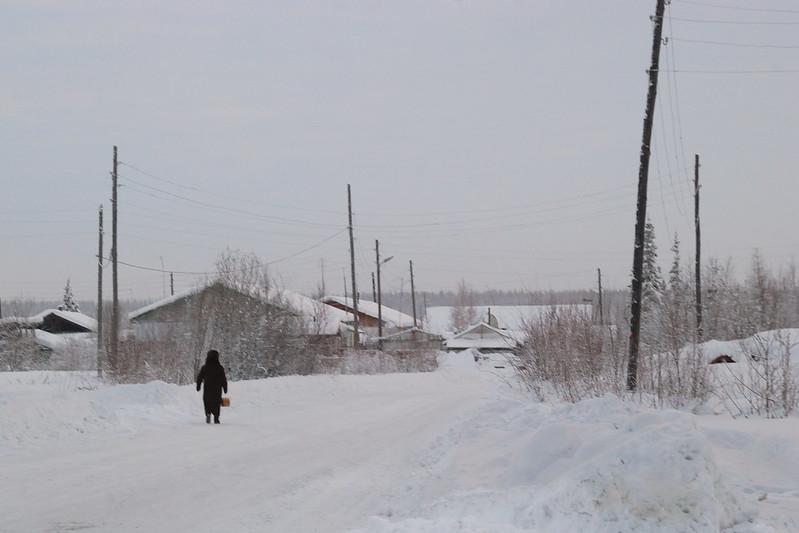 Village sur la route de la Kolyma, Iakoutie, Sibérie - 27/12/2010 - photo Bernard Grua DR