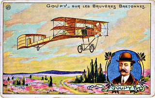Artist Impression Of The Goupy Triplane In Flight Over The Flickr