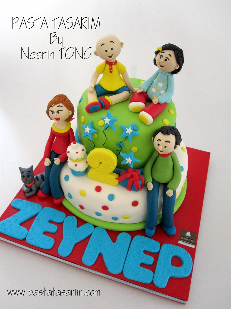 Wondrous Caillou And Family Birthday Cake Zeyneps Pastatasar Funny Birthday Cards Online Elaedamsfinfo