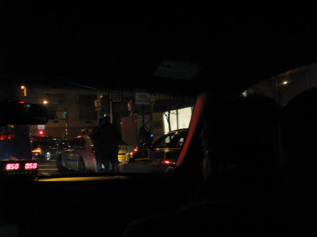 from the back of a cab, Manhattan