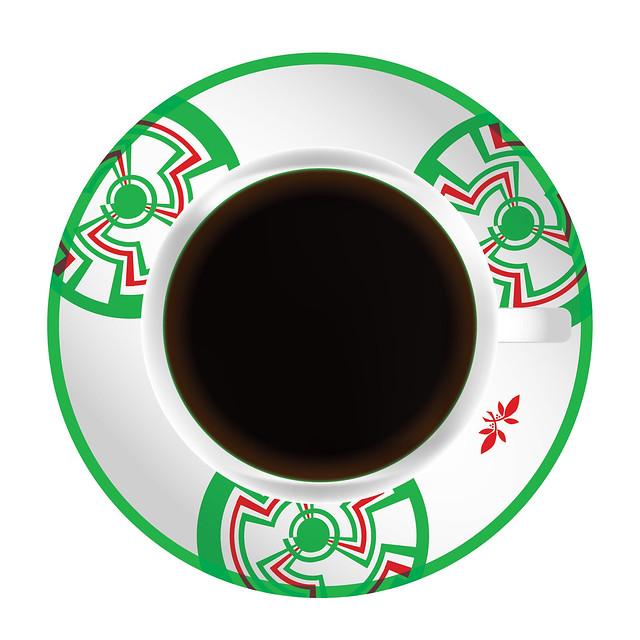 Bourbon Coffee Christmas Designs Coffee Cup Top