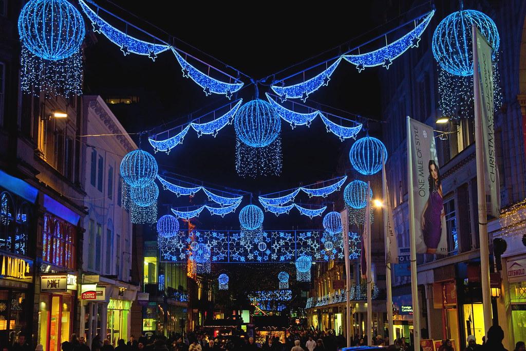 Birmingham Christmas Lights.Christmas Lights In Birmingham City Centre Michael Hughes
