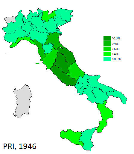 Italy 1946 PRI   Map showing the strength of the Republican …   Flickr