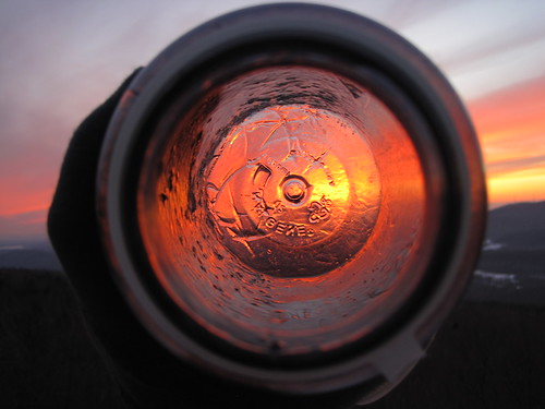 sunset cold ice outdoors frozen bottle colorful hiking freezing artsy freeze cylinder icy nalgene coldweather froid frio waterbottle hydration cylindrical mountgreylock winterhiking