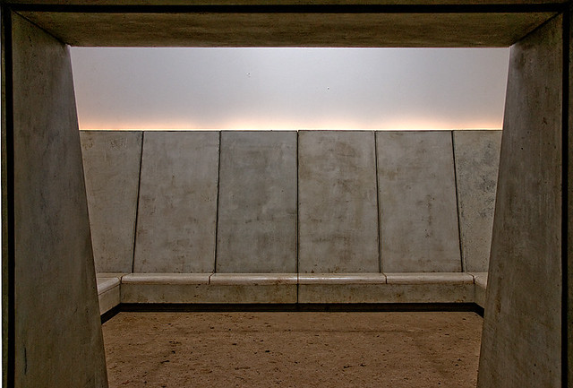 Abstract from sculpture artwork  'Deer Shelter - Skyspace' by James Turrell