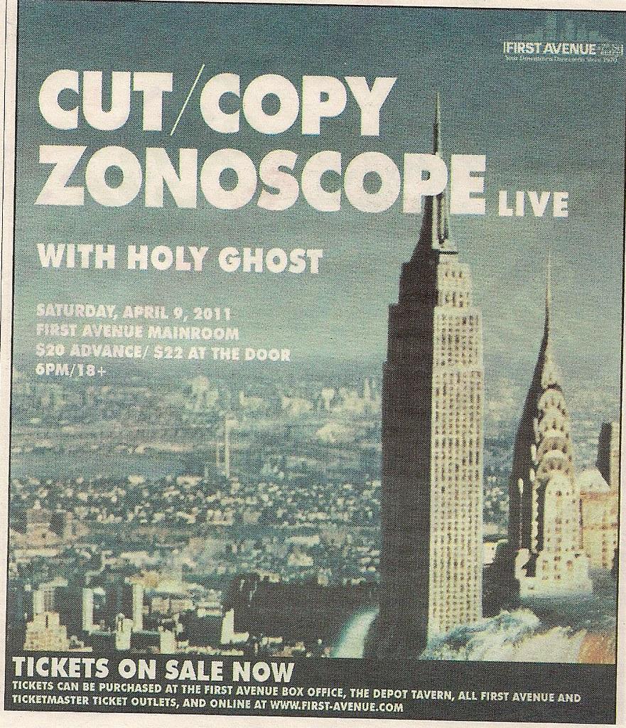 04/09/11 Cut/Copy-Zonoscope @ Minneapolis, MN (ad) | Flickr