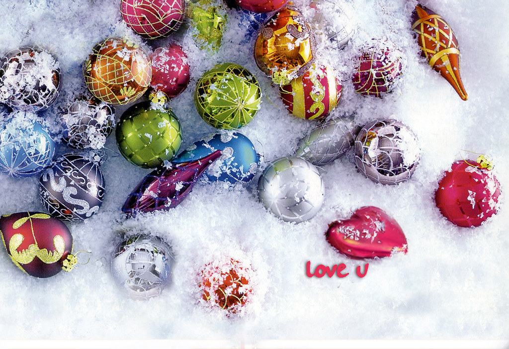 Christmas Computer Wallpaper Love U Christmas Balls