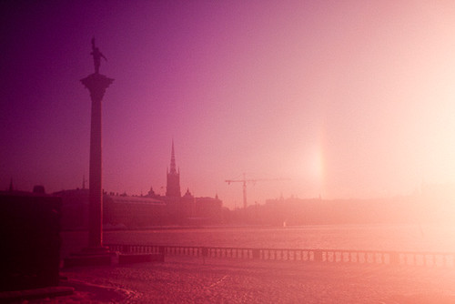 city pink sunset sun snow blur ice digital sunrise canon fire eos rebel rising hall europe purple sweden stockholm violet eu flare sverige sergei stadshuset constant stadshus xti 400d yahchybekov serhio serhiophoto