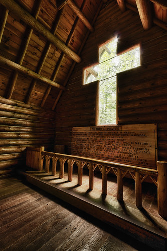 nature mi forest log cabin woods quiet cross god michigan small prayer peaceful chapel lord september serene northern solitary 2010 chapelofthepines johncrouch