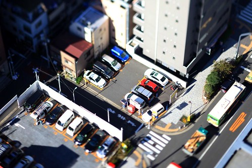 Nakayan's tilt-shift The coin parking, Tokyo 箱庭 コインパーキング | by pinboke_planet