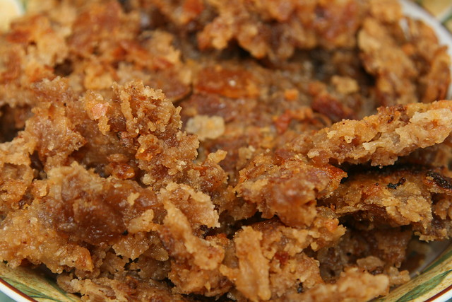 Homemade cracklings made using pork fat from local, naturally raised animals.