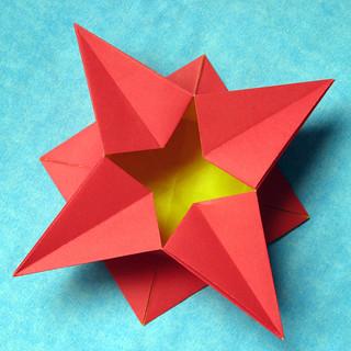 Scatola A Stella Star Box Tecnica Origami Con Foglio U