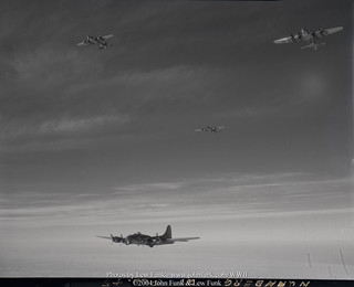 Formation of B-17's on Mission to Nuremberg Germany 21 Feb 1945 | by John Funk from Golden Colorado
