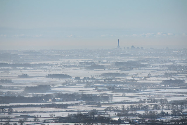 Blackpool and the Fylde from Nicky Nook, Scorton, Lancashire, UK