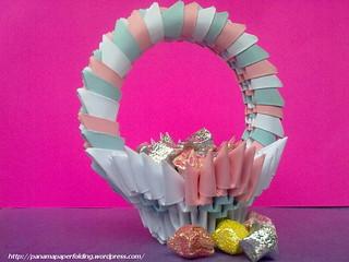 3D Origami Paper Basket/ Origami Bucket/ Advanced Origami/ Paper ... | 240x320