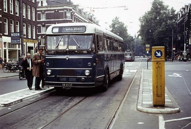 GVBA bus 291 Amsterdam van Woustraat-Ceintuurbaan Tramdienst lijn 3