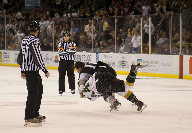 Texas Stars Hockey Fight (explored)