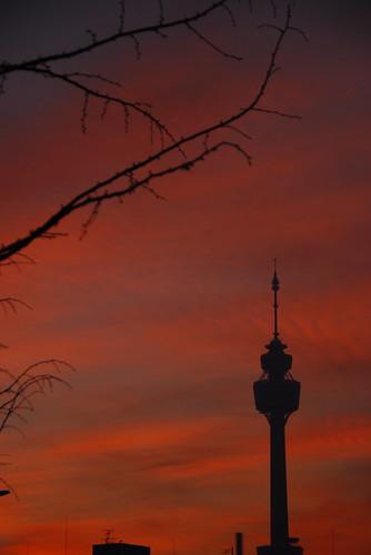 sky tower night sunrise nikon cloudy korea southkorea daegu 대구 d80 colorfuldaegu