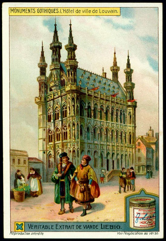Liebig S1051 Gothic Buildings ~ City Hall of Louvain