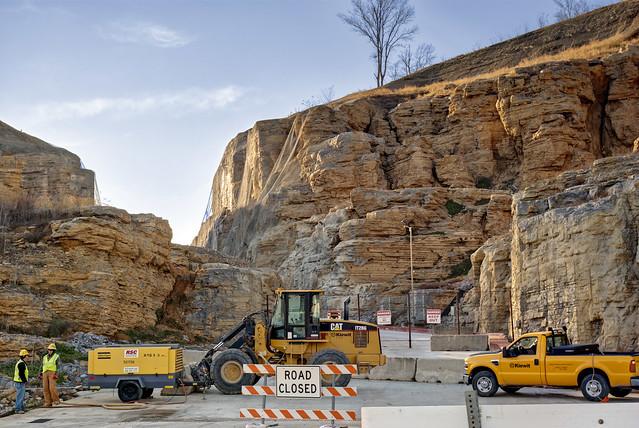Construction, Center Hill Dam, Dekalb Co, TN