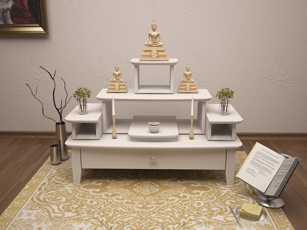 ชุดโต๊ะหมู่บูชา3,5 สีขาว สวยทันสมัย Modern ขนาดเล็ก | Flickr