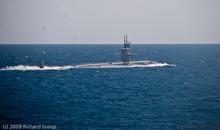 US Submarine existing Curacao harbour | by Richard Scoop