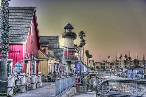 beach sunrise harbor gloomy oceanside shops hdr beginer