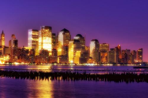 world nyc newyorkcity longexposure newyork skyline night sunrise geotagged dawn newjersey jerseycity center hudsonriver wtc gothamist trade financial hdr hoboken wfc goldmansachs mudpig stevekelley woolwothbuilding hdrtist hdrtistprohdrrendering