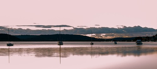 daybreak landscape sailboats nature australia tascott outdoor nswcentralcoast newsouthwales koolewong nsw brisbanewater scenery centralcoastnsw marina boats photography dawn outdoors waterscape sunrise centralcoast bay water pink panorama longexposure reflections