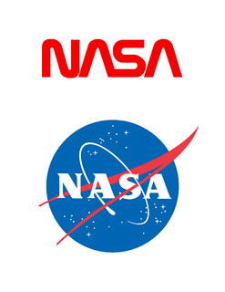 "Nasa ""worm"" and ""meatball"" logos"