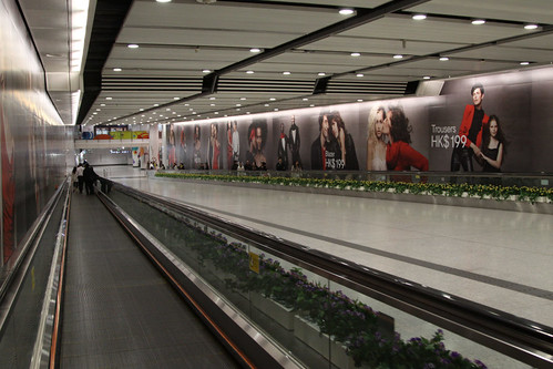 Part of the travelator link between Central and Hong Kong stations
